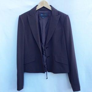 BCBG MAXAZRIA Brown cropped blazer, size M.
